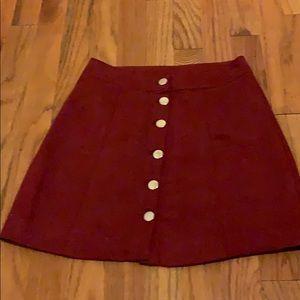 H&M high waisted, button down skirt